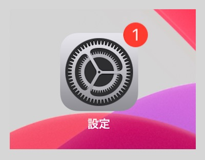 iPad設定アイコン